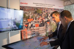 Touchscreen panel in GeoBim conference