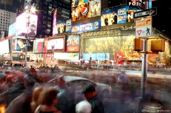 new york, NY, NYC, time square, human traffic, signs, ads, advertisements