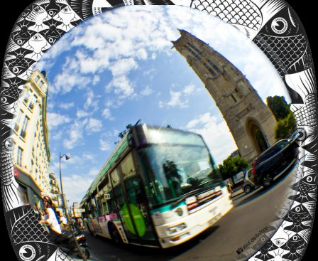 fisheye, fish-eye, Paris