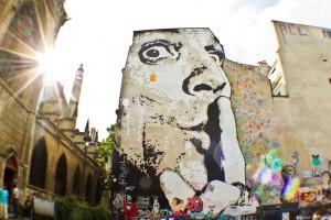 Paroisse Saint Merri, graffiti, Paris