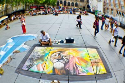 lion, artwork, painting, Paroisse Saint Merri, Paris