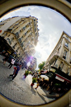 Paris, fisheye, fish-eye, street