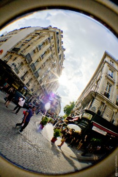 Paris, fisheye, fish-eye, street