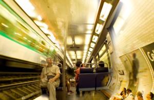 Paris, underground, train, metro, tunnel