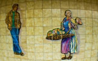 metro, art, paris