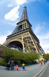 Eiffel tower, Paris, photography, wide angle