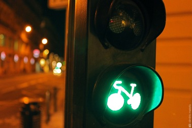 Toulouse, traffic light, green, bike