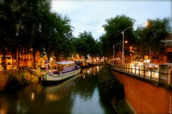 canal, Toulouse, boat, river