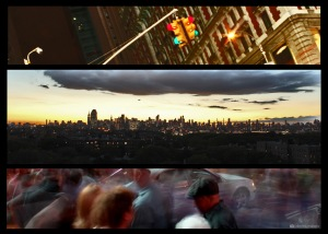 NYC, composition, compilation, panorama, Manhattan, traffic, traffic lights, camera