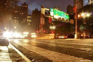 New York, NY, NYC,brooklyn bridge, traffic, sign,