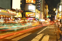 new york, NY, NYC, time square, traffic, long exposure