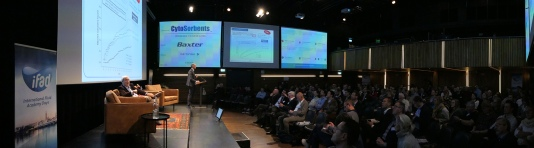 Panorama photo in a conference