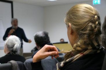 Speaker during a medical conference